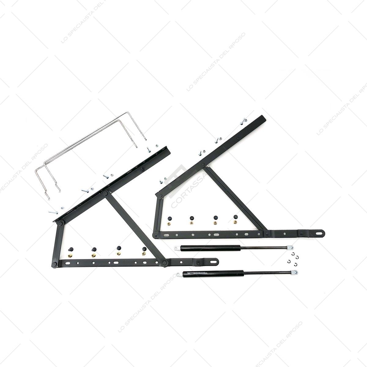 Accessori Letto Contenitore.Sistema Sollevamento Letto Contenitore Light In Kit Cortassa