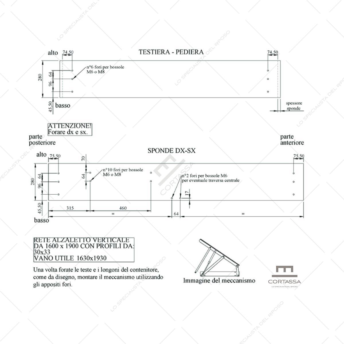 Sistema sollevamento letto EASY
